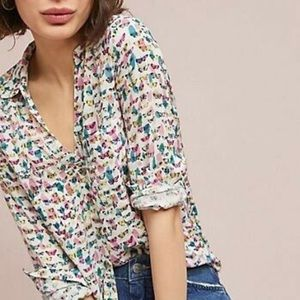 Anthropologie Maeve brand butterfly blouse